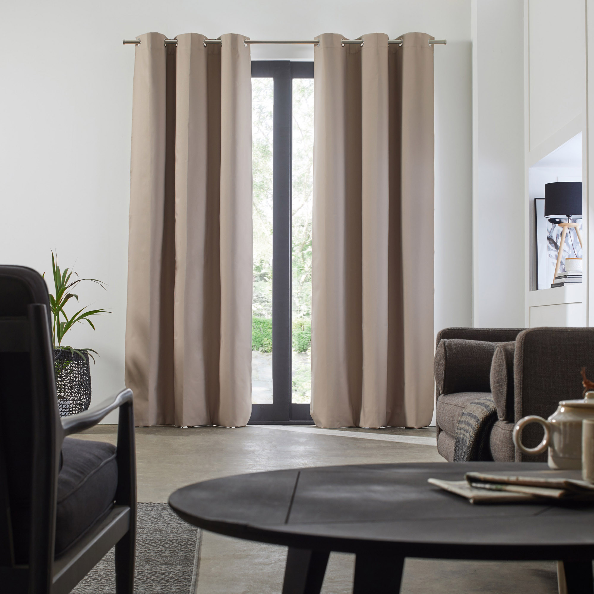 with grommets h panel itm room instyledesign curtains curtain grommet divider ebay