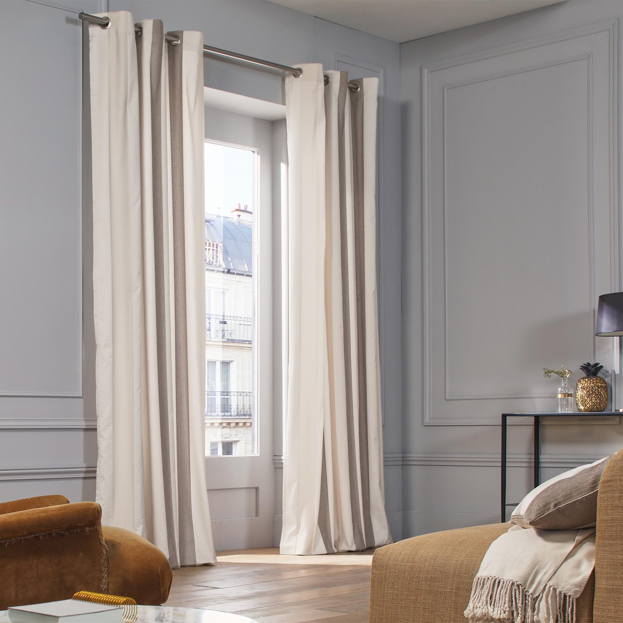 Curtain With Grommets Bellagio Natural Madura