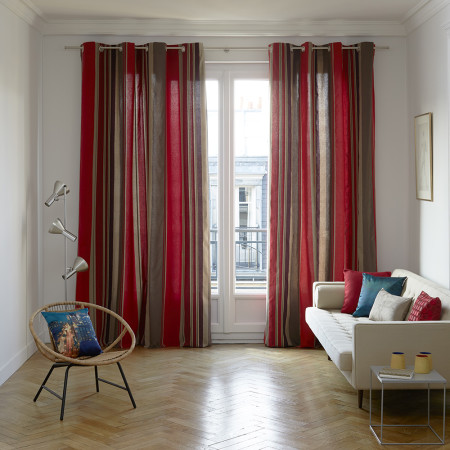 Curtain with grommets Acapulco red