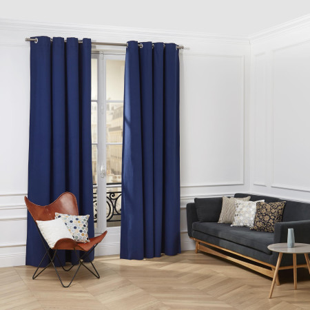 Curtain with grommets Cordoba blue