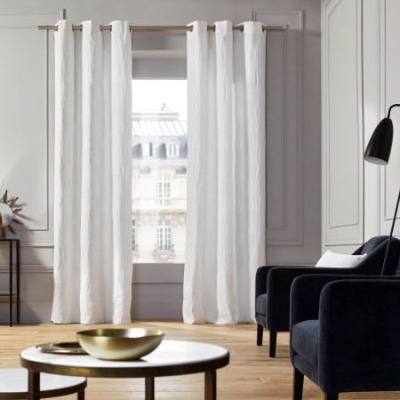 Curtain with grommets Duomo white