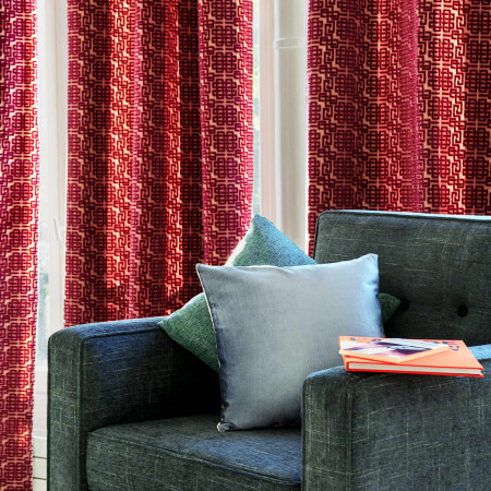 Curtain with grommets Ming orange