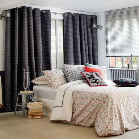 Curtain with grommets Windmill grey