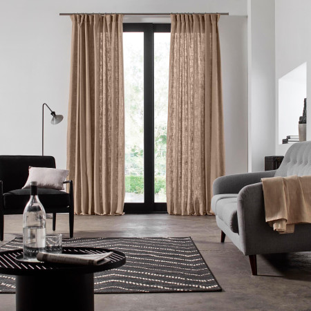 Gathered curtain Bellevue natural