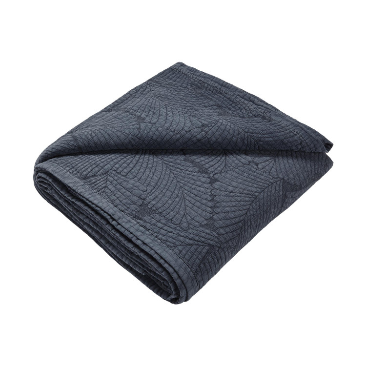 Quilted bedspread Latania grey
