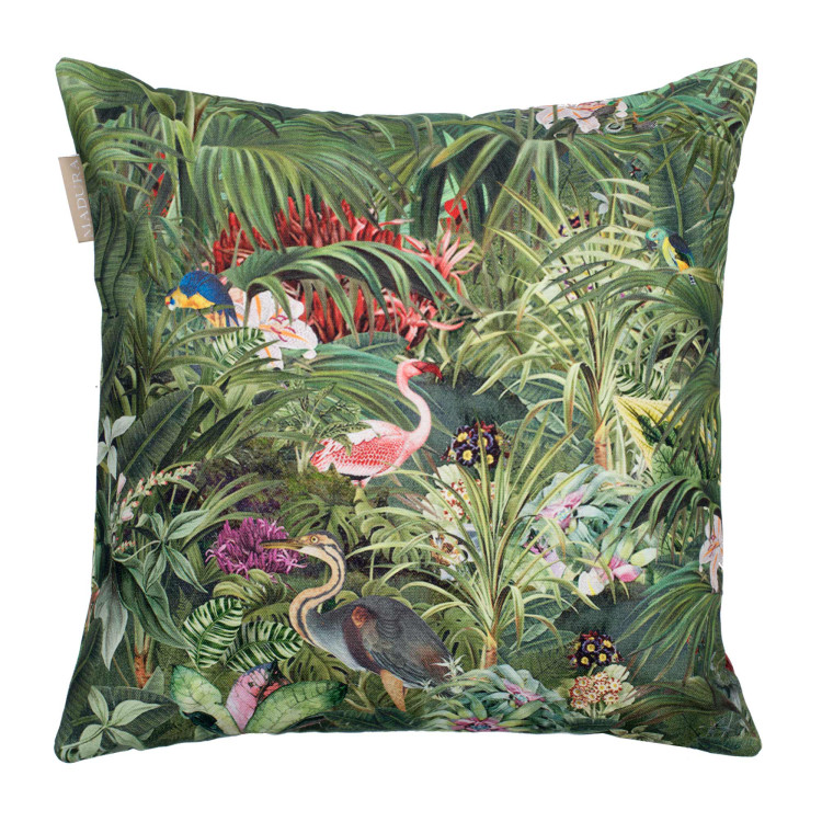 Pillow cover Tropical green