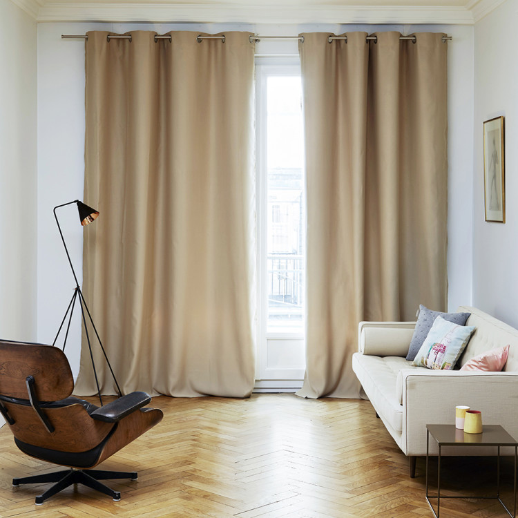 Blackout curtain with grommets Night beige