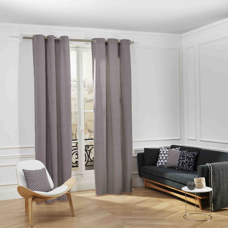 Curtain with grommets Monroe blue