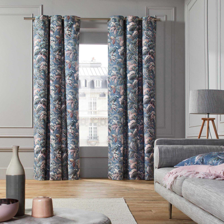 Curtain with grommets Ava blue
