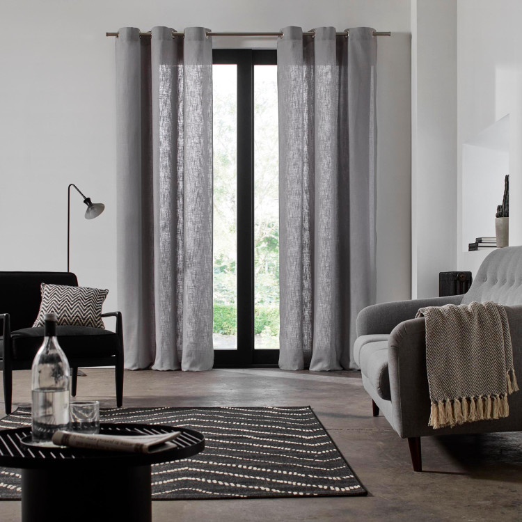 Curtain with grommets Bellevue grey
