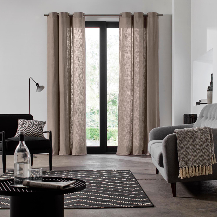 Curtain with grommets Bellevue taupe