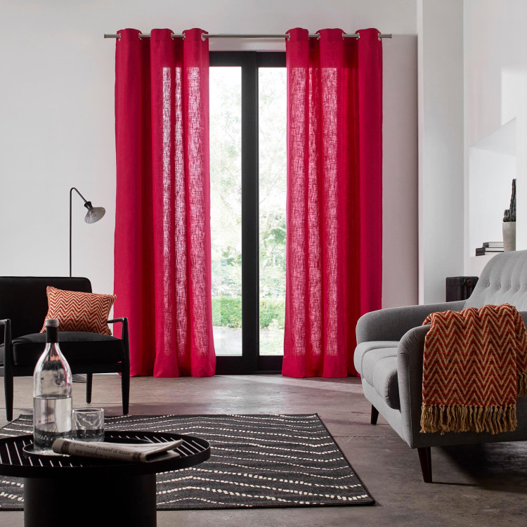Curtain with grommets Bellevue pink