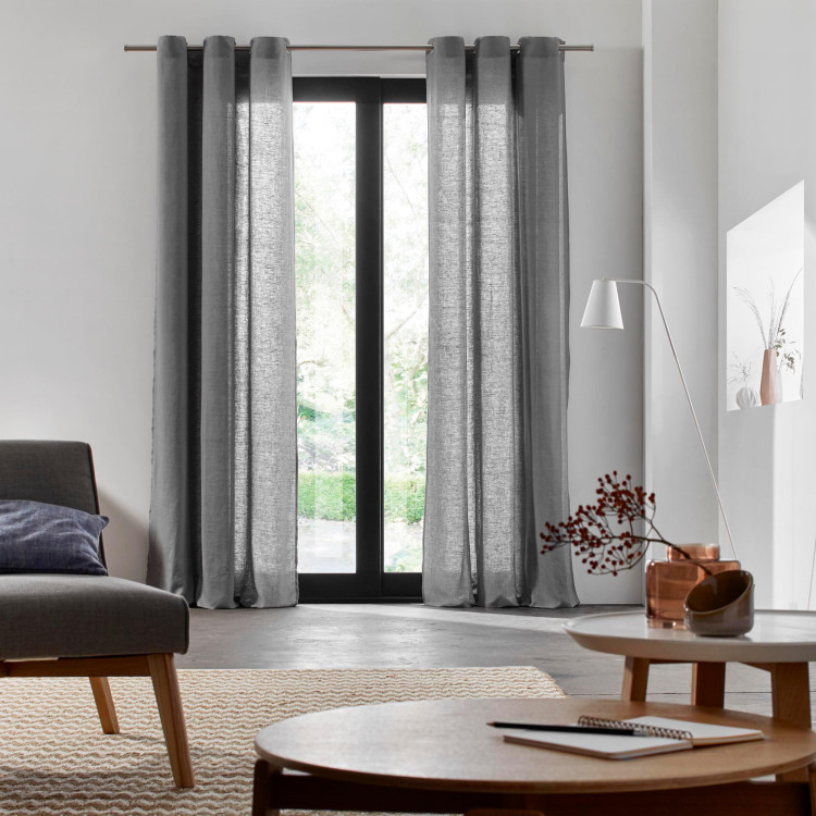 Curtain with grommets Carlina grey