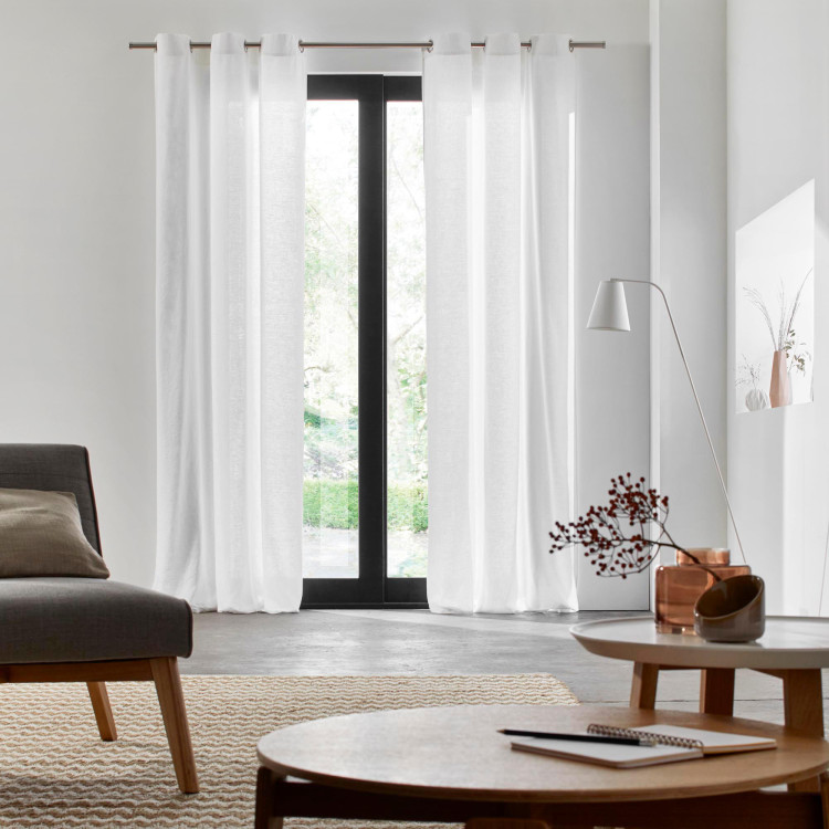 Curtain with grommets Carlina white