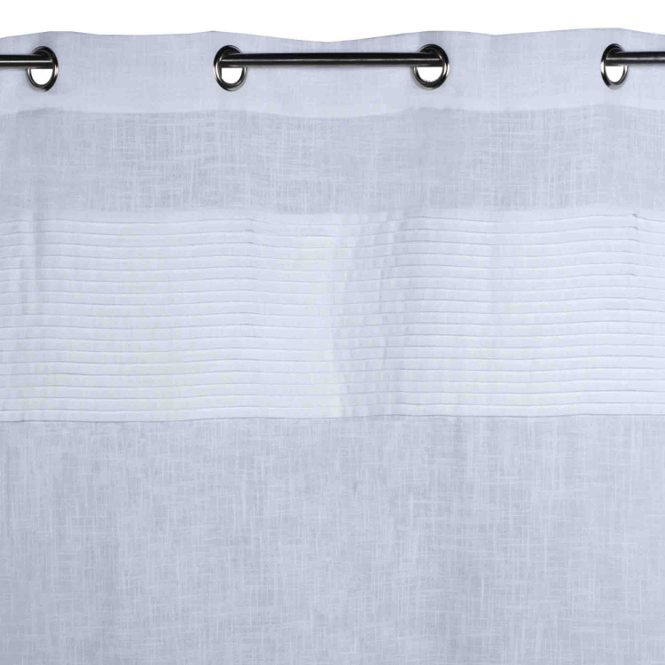 Curtain with grommets Carlton white