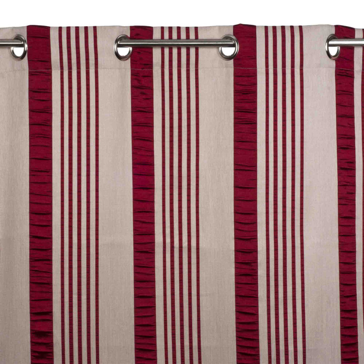 Curtain with grommets Castille red