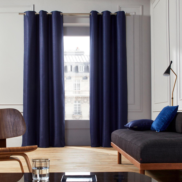 Curtain with grommets Coconut blue