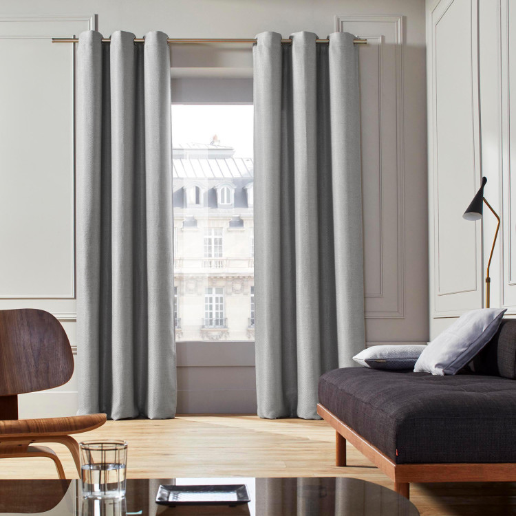 Curtain with grommets Coconut grey