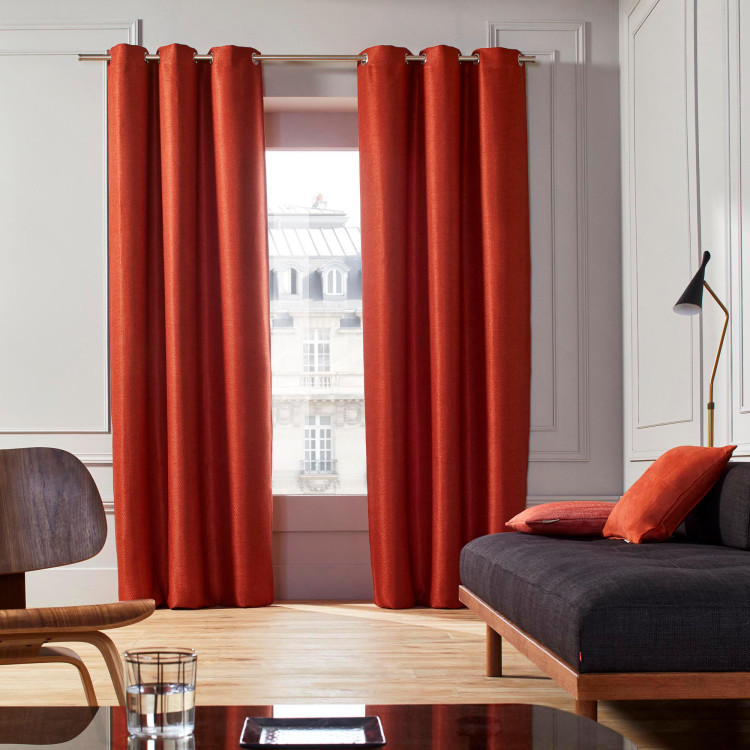 Curtain with grommets Coconut orange
