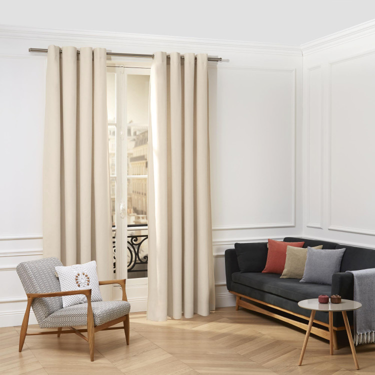 Curtain with grommets Cordoba natural