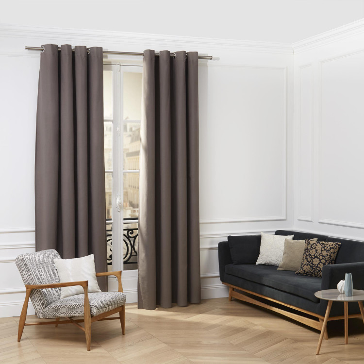 Curtain with grommets Cordoba taupe