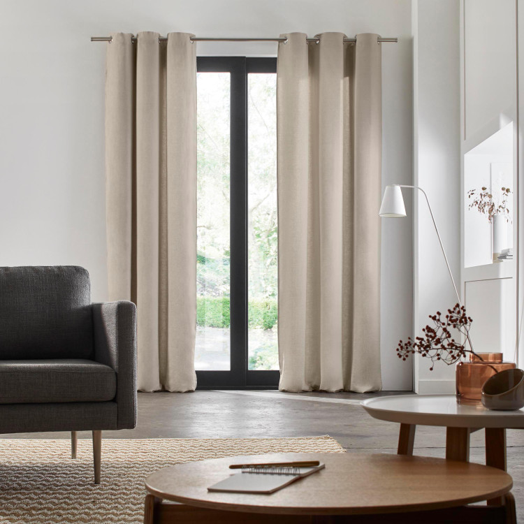 Eyelet lined curtain Carlina beige