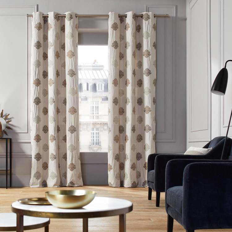 Curtain with grommets Duomo natural