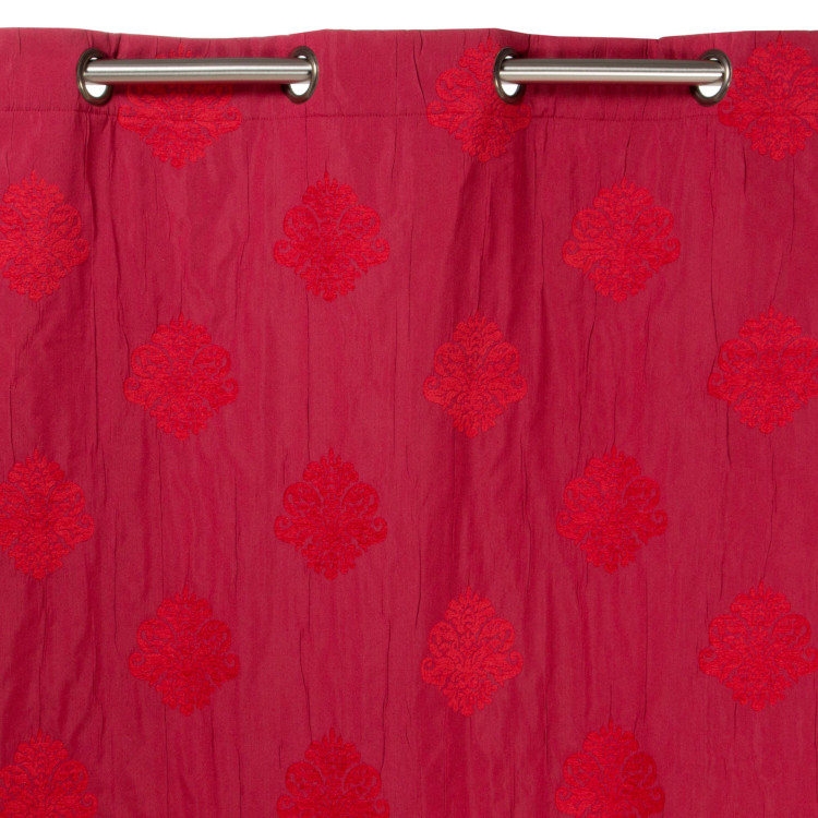 Curtain with grommets Duomo red