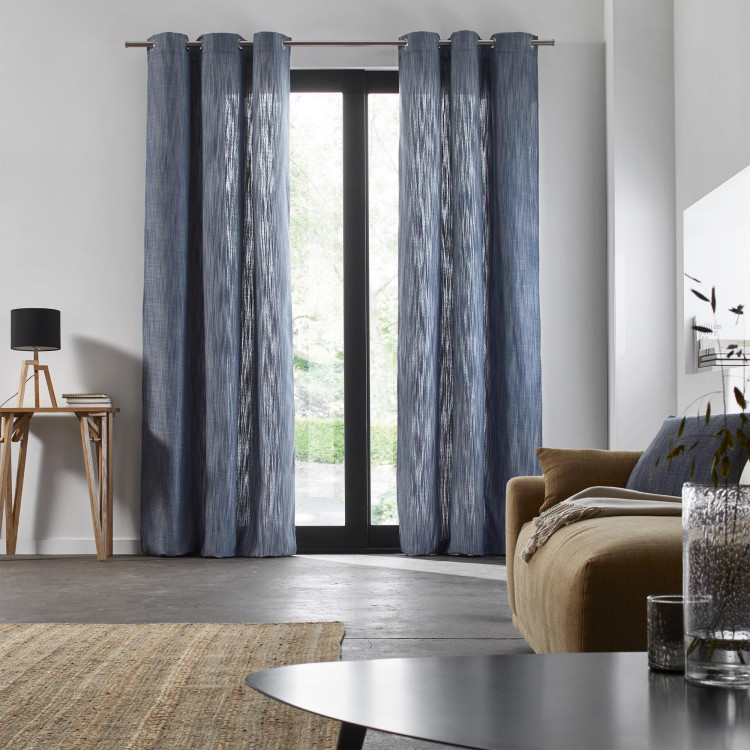 Curtain with grommets Harmony blue