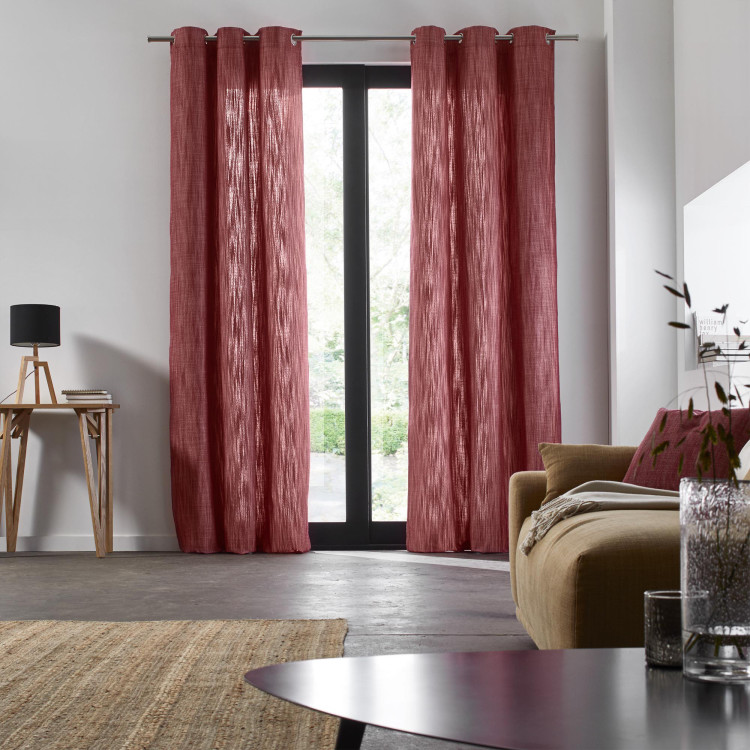 Curtain with grommets Harmony red