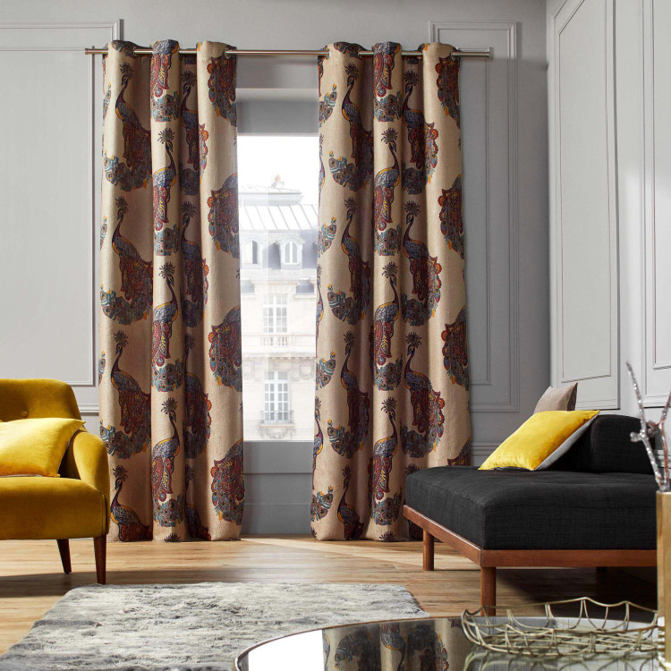 Curtain with grommets Indra multicolor