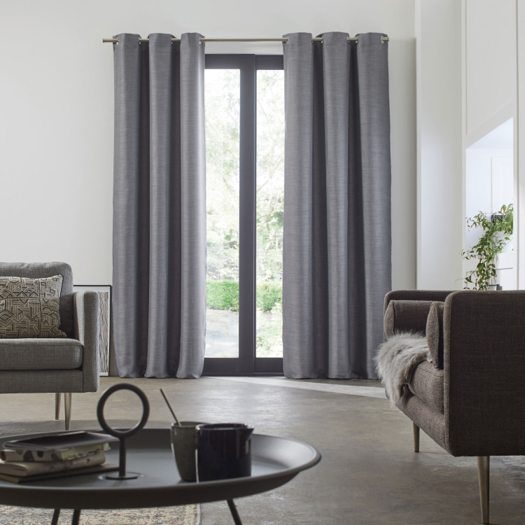 Blackout curtain with grommets Lina grey
