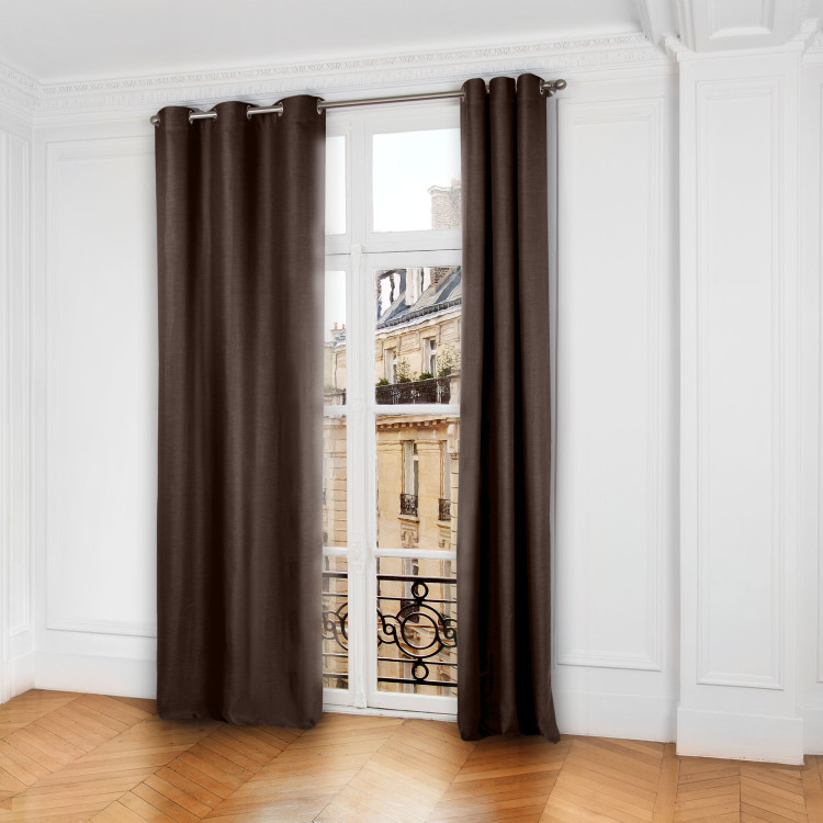 Blackout curtain with grommets Lina brown