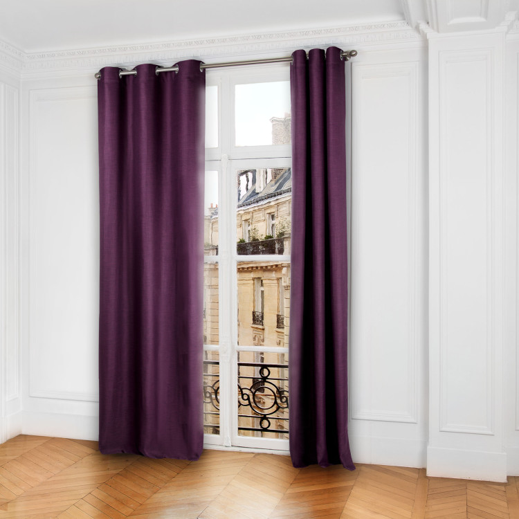 Blackout curtain with grommets Lina purple