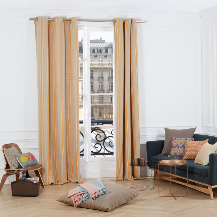 Curtain with grommets Vila real orange