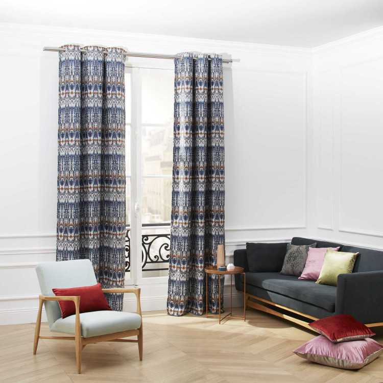 Curtain with grommets Yakis multicolor