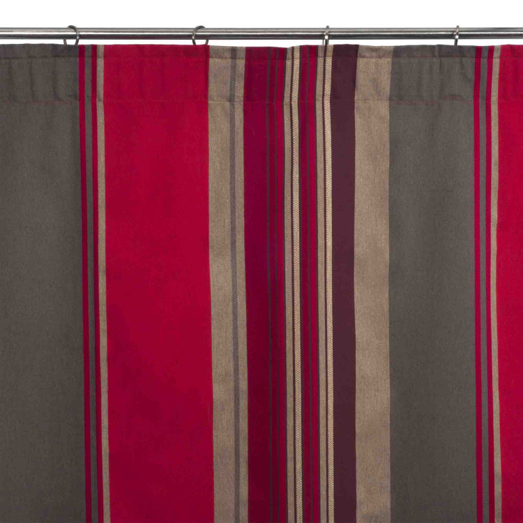 Gathered curtain Acapulco red