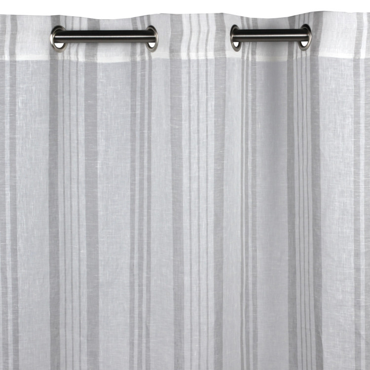 Sheer curtain with grommets Brisbane grey