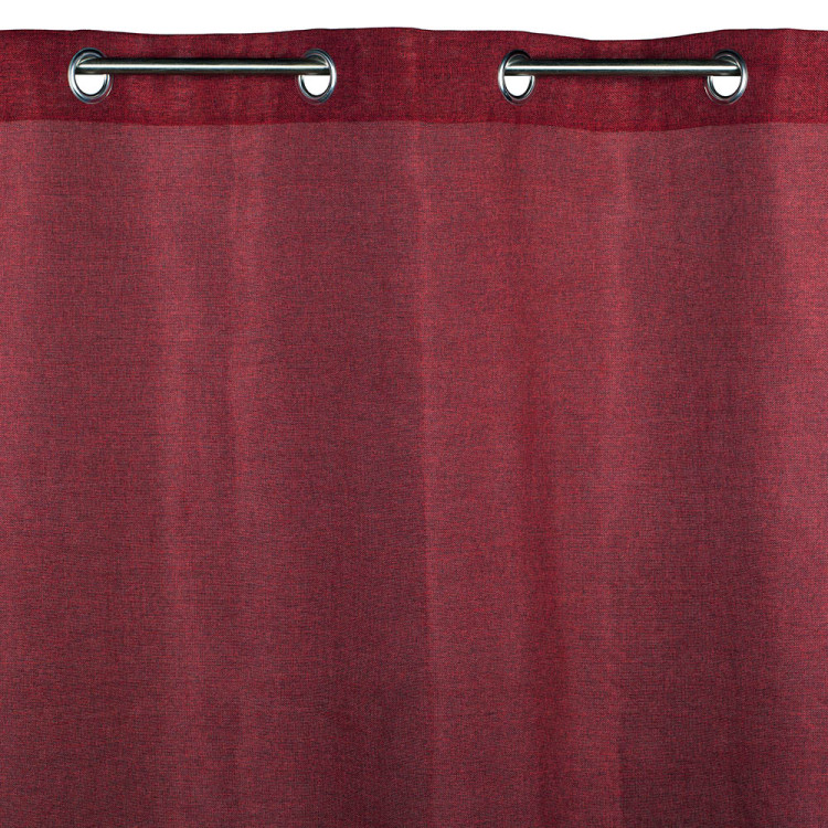 Sheer curtain with grommets Cinnamon red