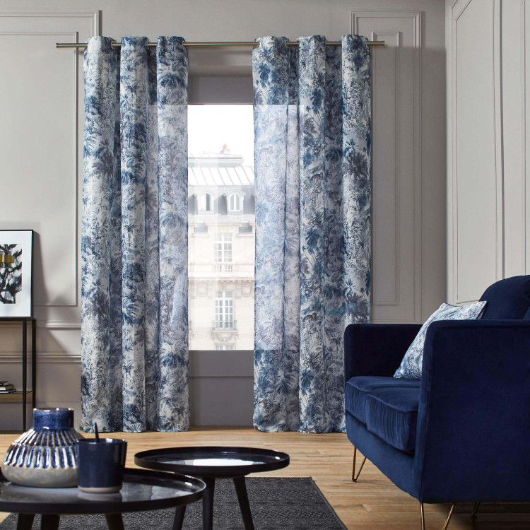 Sheer curtain with grommets Kali blue