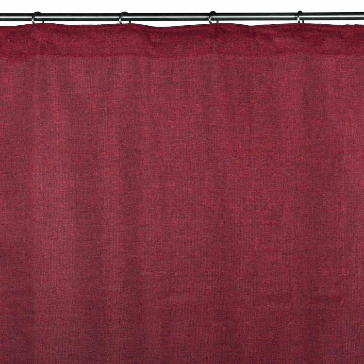 Gathered sheer curtain Cinnamon red