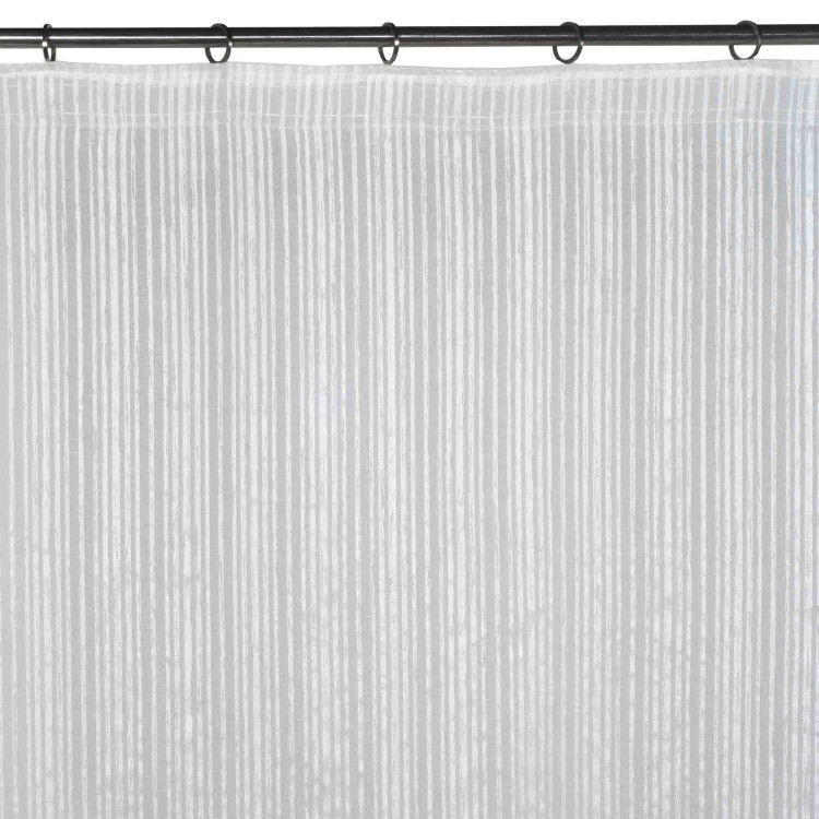Gathered sheer curtain Corfou white
