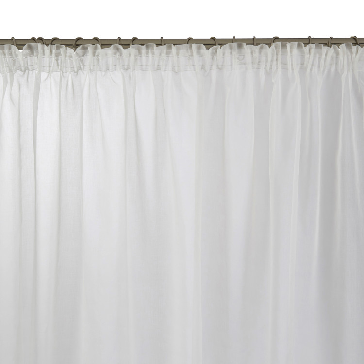 Gathered sheer curtain Thasos white
