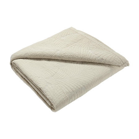 Quilted bedspread Latania beige