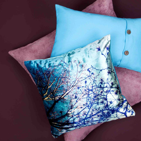 Pillow cover Crystal tree blue