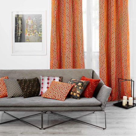 Pillow cover Gamma orange