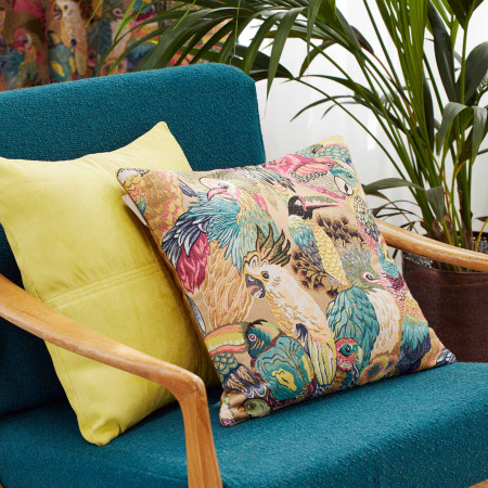 Pillow cover Jungle birds multicolor