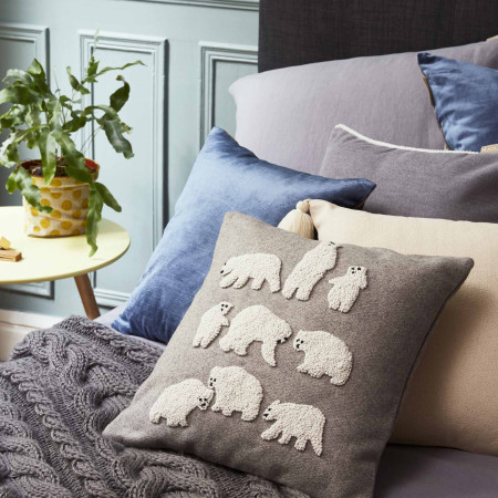 Pillow cover Polar bear grey