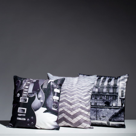 Pillow cover Rive gauche grey