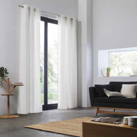 Curtain Aubin white